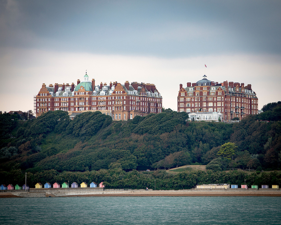 The Metropole and The Grand, Victorian Hotels on the Leas, Folkestone. Kent.