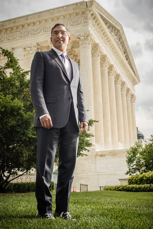 WASHINGTON, DC -- 8/10/17 -- Supreme Court lawyer Neal Katyal is one of the leading attorneys for the state of Hawaii as they fight President Trump's travel ban. Katyal, now an attorney with Hogan Lovells, and former Acting Solicitor General, has argued more cases before the Supreme Court, 34, than any other minority attorney except Thurgood Marshall, with whom he's currently tied..…by André Chung #_AC13922
