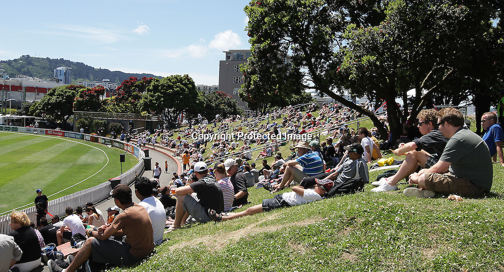 General view of the Basin during their Twenty20 Cricket match - HRV Cup, Wellington Firebirds v Auckland Aces, 28 December 2011, Hawkins Basin Reserve, Wellington. . PHOTO: Grant Down / photosport.co.nz