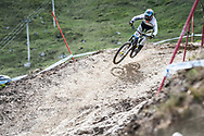 Troy Brosnan during Sunday practice at the UCI Mountain Bike World Cup in Fort William.