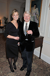 KARENA ALBERS and STANLEY JOHNSON at the launch of Whole World Water at The Savoy Hotel, London on 22nd March 2013.