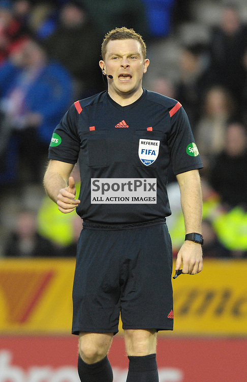 Referee John Beaton <br /> <br /> Inverness Caledonian Thistle v Ross County, Ladbroke's Premiership, Saturday 2nd January 2016<br /> <br /> (c) Alex Todd | SportPix.org.uk