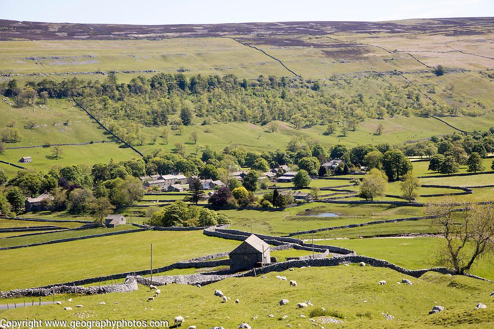 Litton village, Littondale, Yorkshire Dales national park, England, UK