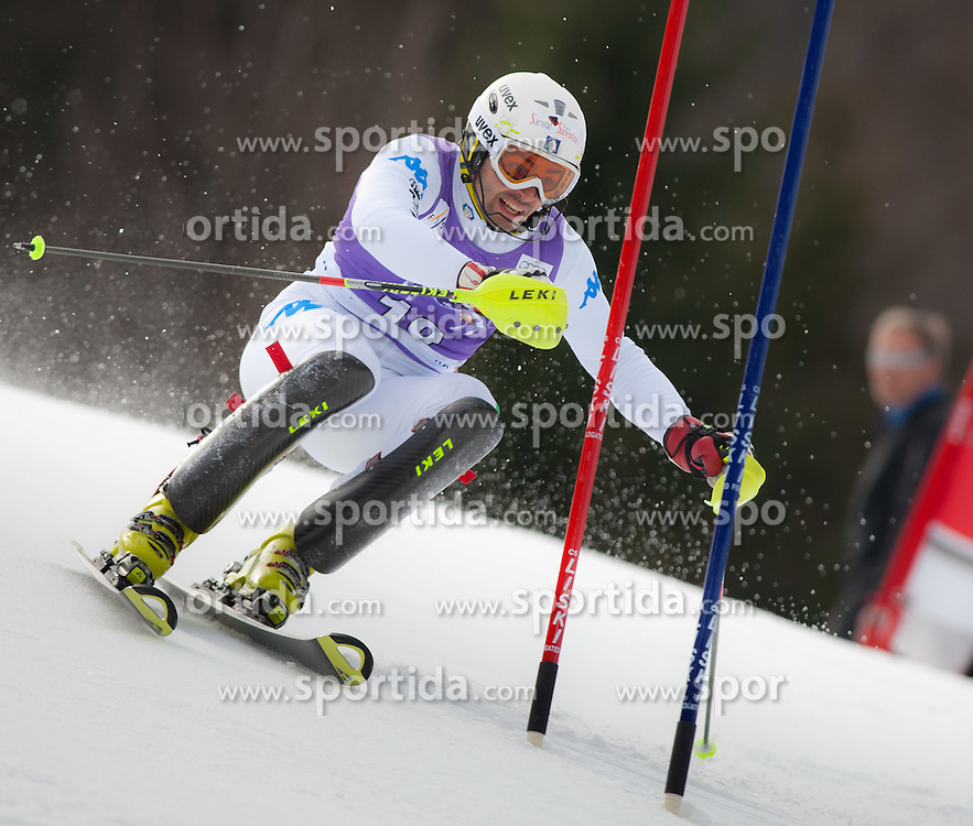 11.03.2012, Podkoren 3, Kranjska Gora, SLO, FIS Weltcup Ski Alpin, Herren, Salom, 1. Durchgang, im Bild Patrick Thaler (ITA) // Patrick Thaler of Italy during mens Slalom 1st run of FIS Ski Alpine World Cup at 'Podkoren 3' course in Kranjska Gora, Slovenia on 2012/03/11. EXPA Pictures © 2012, PhotoCredit: EXPA/ Johann Groder