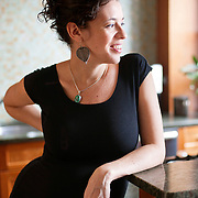 November 19, 2012 - New York, NY : Portrait of author and Pulitzer Prize-winning (for drama) playwright Quiara Alegria Hudes, taken on Monday, November 19 in the kitchen of her Washington Heights apartment. CREDIT: Karsten Moran for The New York Times