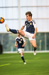 Scotland's Kieran McGrath. Scotland 2 v 2 Wales, Under 16 Victory Shield, Oriam 1/11/2016.