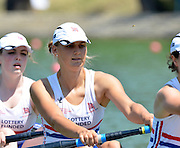 Plovdiv BULGARIA.  GBR JW4-.  Cecelia MOWCZAN,  Heats.  2012 FISA Junior and Non Olympic Rowing Championships, Plovdiv Rowing Centre  14:07:06  Wednesday  15/08/2012  [Mandatory Credit; Peter Spurrier: Intersport Images]
