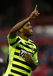 Yeovil Town's Joel Grant celebrates scoring the first goal - Photo mandatory by-line: Matt Bunn/JMP - Tel: Mobile: 07966 386802 14/12/2013 - SPORT - Football - Barnsley - Oakwell - Barnsley v Yeovil Town - Sky Bet Championship