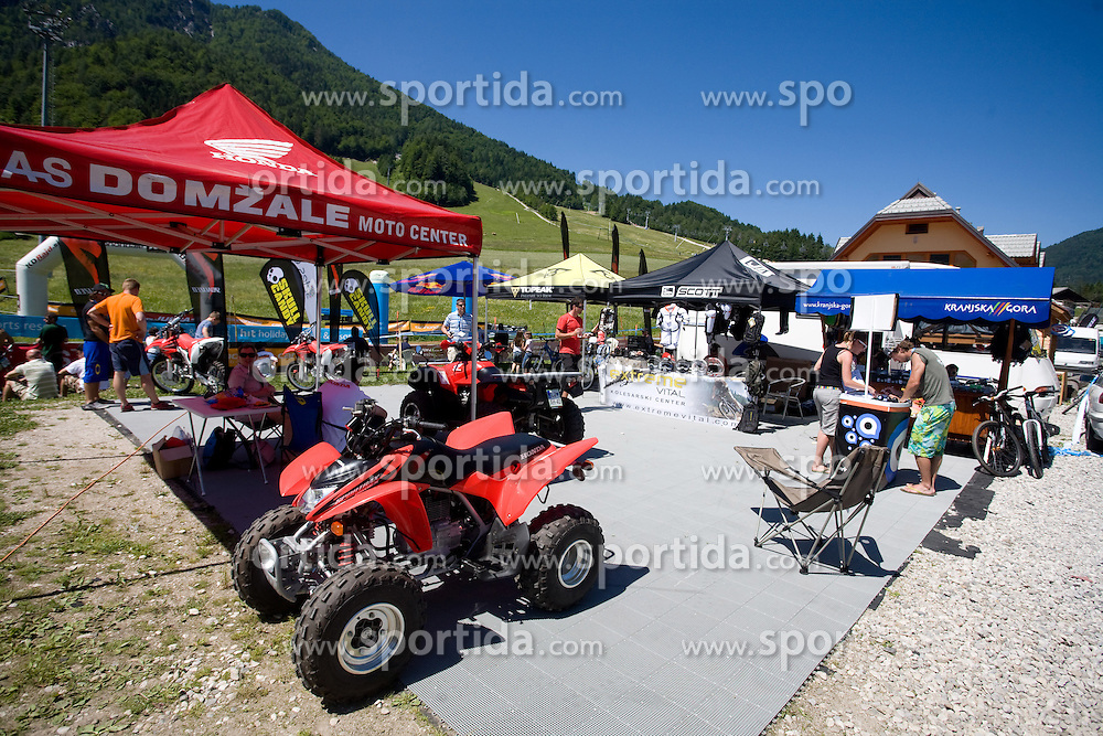 AS Domzale Moto center at MTB Downhill European Championships, on June 14, 2009, at Kranjska Gora, Slovenia. (Photo by Vid Ponikvar / Sportida)