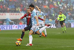 """Foto Filippo Rubin<br /> 03/03/2018 Ferrara (Italia)<br /> Sport Calcio<br /> Spal - Bologna - Campionato di calcio Serie A 2017/2018 - Stadio """"Paolo Mazza""""<br /> Nella foto: GOAL ALBERTO GRASSI (SPAL)<br /> <br /> Photo by Filippo Rubin<br /> March 03, 2018 Ferrara (Italy)<br /> Sport Soccer<br /> Spal vs Bologna - Italian Football Championship League A 2017/2018 - """"Paolo Mazza"""" Stadium <br /> In the pic: GOAL ALBERTO GRASSI (SPAL)"""
