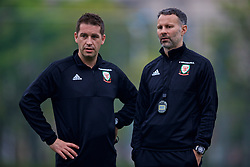 NANNING, CHINA - Sunday, March 25, 2018: Wales' sports science coach Adam Owen and new manager Ryan Giggs during a training session at the Guangxi Sports Centre ahead of the 2018 Gree China Cup International Football Championship final match against Uruguay. (Pic by David Rawcliffe/Propaganda)