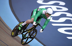 Ireland's Eoin Mullen in the sprint qualifying during Round One of the 2017/18 Revolution Series at Lee Valley Velo Park, London.
