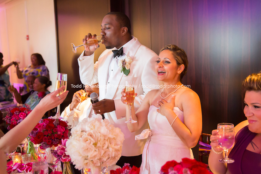 5/21/13 12:08:45 PM .The wedding of April and Sakou on Windy City Live... . © Todd Rosenberg Photography 2013