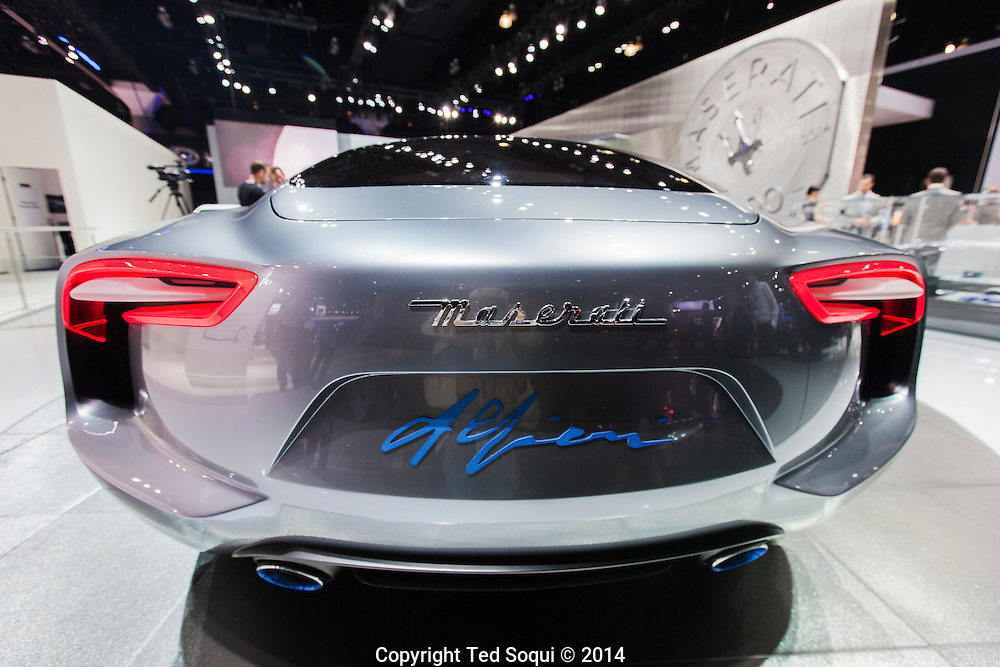 The 2014 Los Angeles Auto Show at the Los Angeles Convention Center.<br /> Maserati Alfieri concept vehicle.