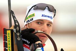 Slovenian athlete Joze Mehle at Men 20 km Individual at E.ON Ruhrgas IBU World Cup Biathlon in Hochfilzen (replacement Pokljuka), on December 18, 2008, in Hochfilzen, Austria. (Photo by Vid Ponikvar / Sportida)