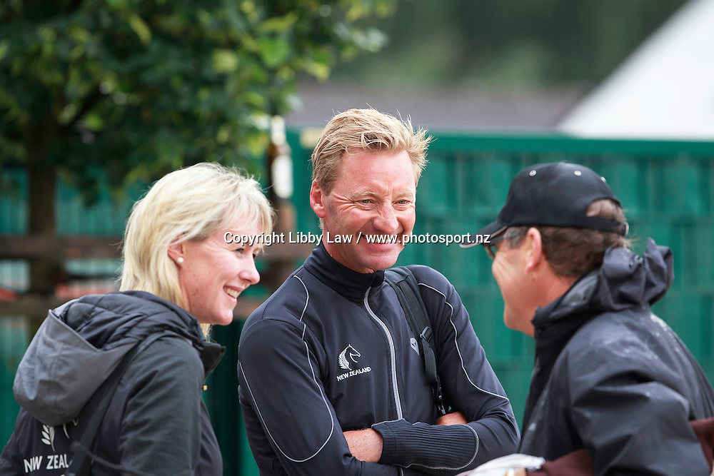 ESNZ HP Director: Sarah Dalziel-Clout and ESNZ HP Coach: Eric Duvander with David Brougham: NZL-Julie Brougham (VOM FEINSTEN) FINAL-19TH: HAVENS Pferdefutter-Preis: GrandPrix CDI: 2016 GER-CHIO Aachen: Weltfest des Pferdesports (Wednesday 13 July) CREDIT: Libby Law COPYRIGHT: LIBBY LAW PHOTOGRAPHY