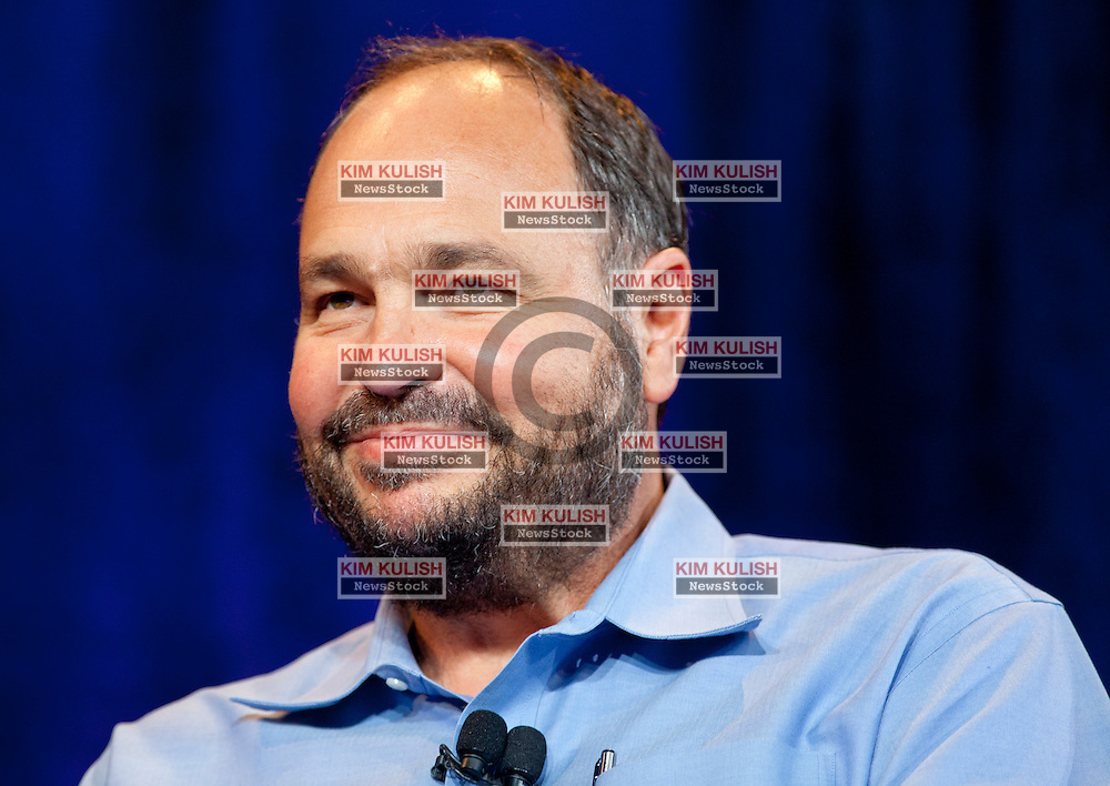 Paul Maritz, outgoing CEO of VMware, participates in a CEO roundtable discussion at the annual VMworld conference in San Francisco, California.