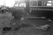 Chilling by the van, Exodus Free Festival, Luton, 1997.