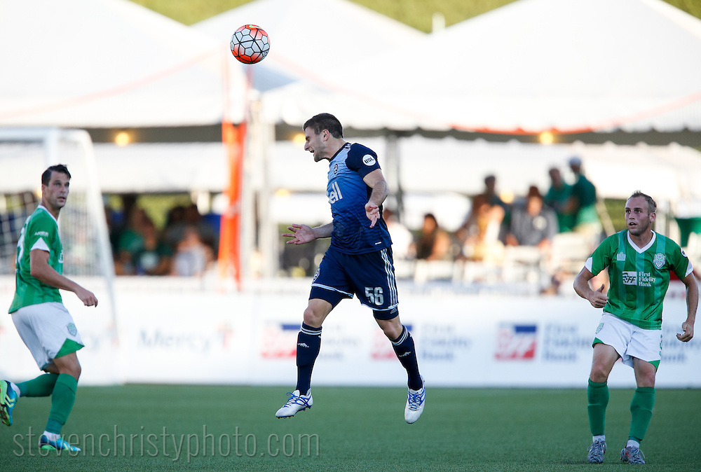 June 25, 2016: OKC Energy FC plays the Vancouver Whitecaps FC 2 in a USL game at Taft Stadium in Oklahoma City, Oklahoma.