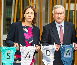 Pictured: Kezia Dugdale and Ian Gray were on hand to support the launch<br /> <br /> Stillbirth and neonatal death charity  launched their awareness month campaign today in Edinburgh. The #15babiesaday drive by Sands aims to highlight the fact 15 babies a day in the UK die shortly before, during or after birth.  MSPs Neil Findlay, Kezia Dugdale, Angela Constance, Ian Gray among others joined bereaved parents at its Scottish Parliament launch today.<br /> <br /> Ger Harley | EEm 15 June 2017