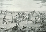 The Naval Battle Off North Forelant, 11-14 June, 1666.  During the second war between England and the Netherlands for the dominion of the sea, one of the most sanguinary battles that history knows of was fought off North Foreland.  The fighting lasted four days, with both parties claiming victory.