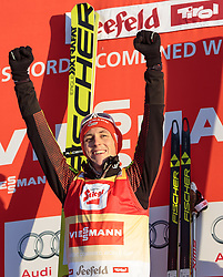 30.01.2016, Casino Arena, Seefeld, AUT, FIS Weltcup Nordische Kombination, Seefeld Triple, Siegerehrung, im Bild Sieger Eric Frenzel (GER) // Winner Eric Frenzel of Germany celebrates on Podium after the 2nd Day of the FIS Nordic Combined World Cup Seefeld Triple at the Casino Arena in Seefeld, Austria on 2016/01/30. EXPA Pictures © 2016, PhotoCredit: EXPA/ JFK