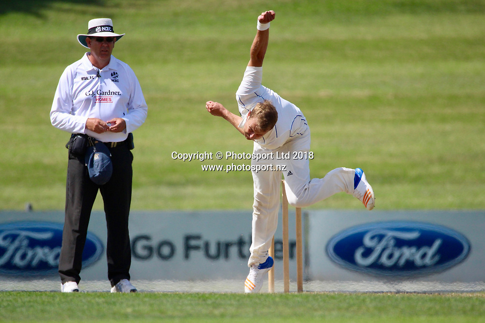 Otago Volts Neil Wagner.<br /> Central Stags v Otago Volts - Day 3, Round 6 of the Plunket Shield cricket series at McLean Park, Napier, New Zealand.<br /> 3 March 2018.<br /> Copyright photo: Margo Butcher / www.photosport.nz