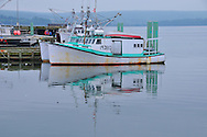 Scenic view of Digby, Nova Scotia Harbor on the Bay of Fundy with Scallop, Lobster,Halibut and Cod fishing boats common in the upperAtlantic coast.