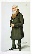 William Thomson, Lord Kelvin  (1824-1907) Scottish physicist and mathematician. Second law of thermodynamics: Temperature scale: Atlantic telegraph cable: Mirror galvanometer. 'Spy' (Leslie Ward) cartoon from 'Vanity Fair', London, 29 April 1897.
