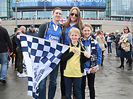 Millwall fans before the Sky Bet League 1 play-off final at Wembley Stadium, London<br /> Picture by Glenn Sparkes/Focus Images Ltd 07939664067<br /> 20/05/2017
