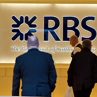 London May8th (FILE PICTURE) Royal Bank of Scotland (RBS), the bank majority owned by the UK taxpayer, today reported a loss of £857 million for the first three months of the year after a £4.9 billion write down on failed investments and toxic loans all but wiped out its profits. <br /> <br /> <br /> ***Standard Licence  Fee&#39;s Apply To All Image Use***<br /> Marco Secchi /Xianpix<br />  tel +44 (0) 845 050 6211<br />  e-mail ms@msecchi.com or sales@xianpix.com<br /> www.marcosecchi.com