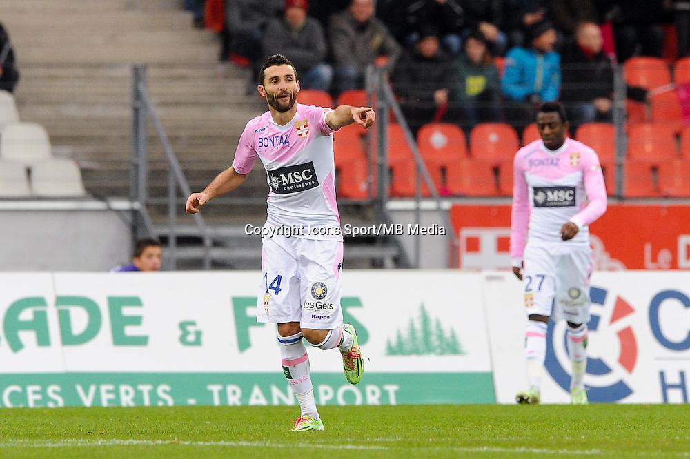 Joie Cedric BARBOSA - 07.12.2014 - Evian Thonon / Lyon - 17eme journee de Ligue 1 -<br />Photo : Jean Paul Thomas / Icon Sport