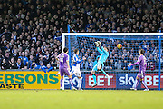 Bristol Rovers Billy Bodin puts his team 1 nil ahead during the Sky Bet League 2 match between Bristol Rovers and Plymouth Argyle at the Memorial Stadium, Bristol, England on 23 January 2016. Photo by Shane Healey.