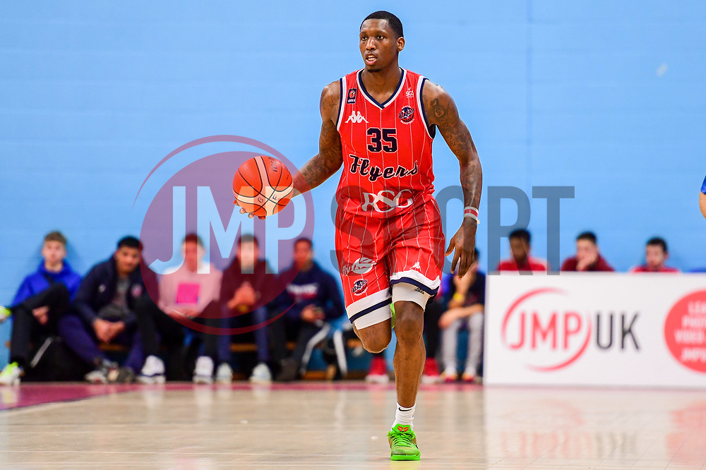Fred Thomas of Bristol Flyers - Photo mandatory by-line: Ryan Hiscott/JMP - 03/11/2018 - BASKETBALL - SGS Wise Arena - Bristol, England - Bristol Flyers v Newcastle Eagles - British Basketball League Championship