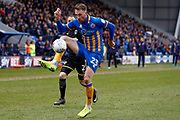Shrewsbury Town midfielder Alex Rodman (23) controls the ball during the EFL Sky Bet League 1 match between Shrewsbury Town and AFC Wimbledon at Greenhous Meadow, Shrewsbury, England on 24 March 2018. Picture by Simon Davies.