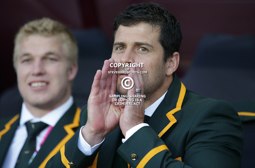 BIRMINGHAM, ENGLAND - SEPTEMBER 26: Morne Steyn of South Africa during the Rugby World Cup 2015 Pool B match between South Africa and Samoa at Villa Park on September 26, 2015 in Birmingham, England. (Photo by Steve Haag/Gallo Images)
