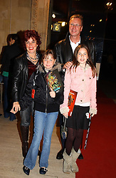 RUBY WAX her husband ED BALLS and their children MADELAINE and right MARIANNA at the return of Dralion to celebrate the Cirque Du Soleil's 20th Anniversary at the Royal Albert Hall, London on 6th January 2005.<br /><br />NON EXCLUSIVE - WORLD RIGHTS