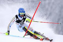 06.01.2015, Sljeme, Zagreb, CRO, FIS Weltcup Ski Alpin, Zagreb, Herren, Slalom, 1. Lauf, im Bild Markus Larsson (SWE) // Markus Larsson of Sweden in action during 1st run of men's Slalom of FIS Ski Alpine Worldcup at the Sljeme in Zagreb, Croatia on 2015/01/06. EXPA Pictures © 2015, PhotoCredit: EXPA/ Pixsell/ Goran Stanzl<br /> <br /> *****ATTENTION - for AUT, SLO, SUI, SWE, ITA, FRA only*****