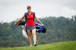 Katja Pogacar, Slovenian professional golfer during interview and practice session on May 23, 2018 in Diners Golf Course Smlednik Ljubljana, Slovenia. Photo by Vid Ponikvar / Sportida
