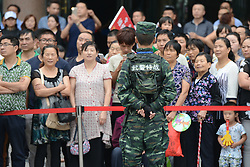September 13, 2016 - Pingchang, China - A reinforced security at the start of the fourth stage, 157.57 km from Bazhong to Pingchang, during the 2016 Tour of China 1...On Tuesday, 13 September 2016, in Pingchang, China. (Credit Image: © Artur Widak/NurPhoto via ZUMA Press)