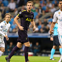 Harry Kane of Tottenham Hotspur in action during Uefa Champions League (Group H) match between Real Madrid and Tottenham Hotspur at Santiago Bernabeu Stadium on October 17, 2017 in Madrid  (Spain) (Photo by Luis de la Mata / SportPix.org.uk)