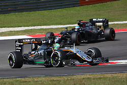 Nico Hulkenberg (GER) Sahara Force India F1 VJM09.<br /> 02.10.2016. Formula 1 World Championship, Rd 16, Malaysian Grand Prix, Sepang, Malaysia, Sunday.<br /> Copyright: Photo4 / XPB Images / action press