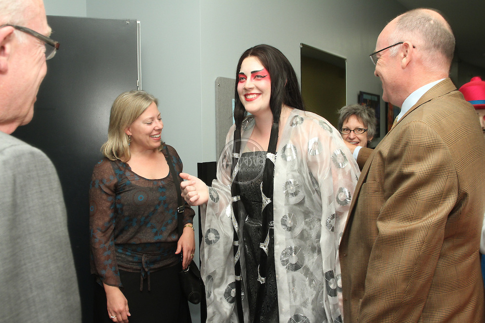 Seattle Opera Turandot donors backstage with Marcy Stonikas.