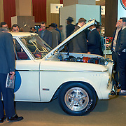 A 1963 Studebaker Lark with the optional Avanti supercharged R2 engine at the 1963 New York Auto Show.