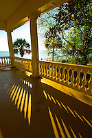 Looking from the balcony of the Edmonston-Alston House (museum) toward the Battery and the Cooper River, East Bay Street, in the historic district of Charleston, South Carolina