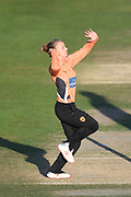 Danielle Wyatt of Southern Vipers bowling during the Kia Women's Cricket Super League Final match between Western Storm and Southern Vipers at the 1st Central County Ground, Hove, United Kingdom on 1 September 2019.