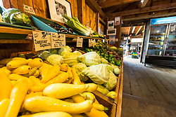 In the farm stand at Barker's Farm in Stratham, New Hampshire.