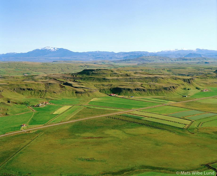 Galtafell  og Smárahlíð séð til austurs, Hrunamannahreppur / Galtafell and Smarahlid viewing east, Hrunamannahreppur.