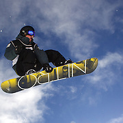 Nathan Johnstone, Australia, in action during the Women's Half Pipe Qualification in the LG Snowboard FIS World Cup, during the Winter Games at Cardrona, Wanaka, New Zealand, 27th August 2011. Photo Tim Clayton..