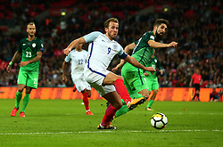 Harry Kane of England scores a goal to make it 1-0 - Mandatory by-line: Robbie Stephenson/JMP - 05/10/2017 - FOOTBALL - Wembley Stadium - London, United Kingdom - England v Slovenia - World Cup qualifier